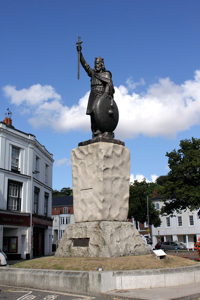 Statue of King Alfred  Winchester Hampshire