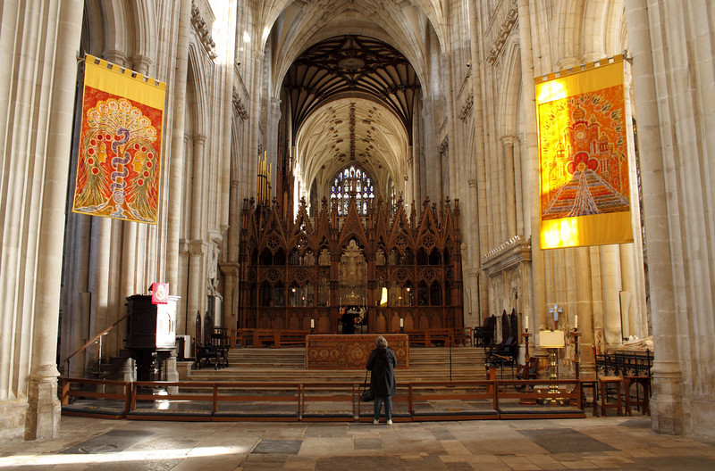 Winchester Cathedral interior January 2010
