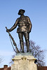 World War 1 soldier statue in grounds of Winchester Cathedral