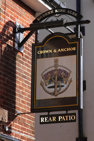 Crown and Anchor Pub sign Winchester
