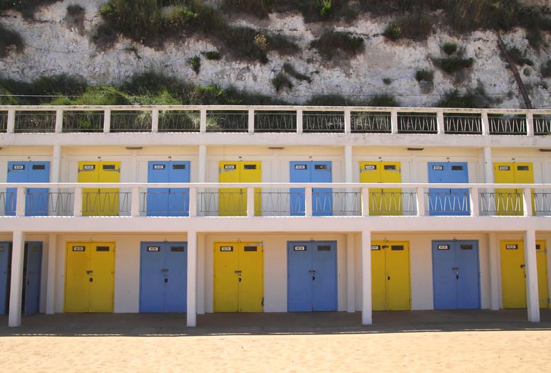 Colourful Beach Huts at Viking Bay Beach Broadstairs Kent
