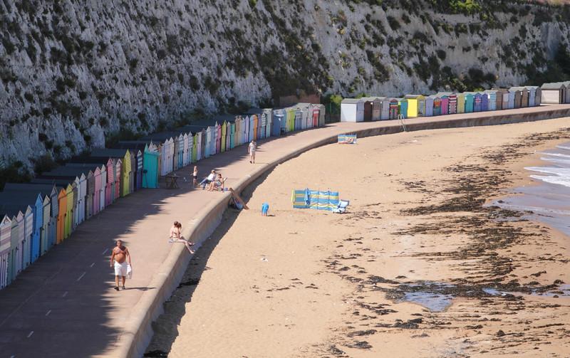 Beach Huts at Stone Bay Broadstairs Kent England