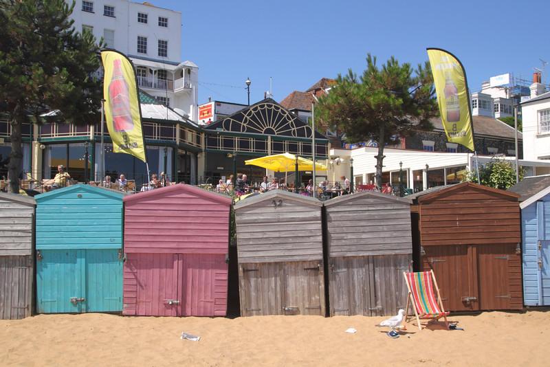 Beach Huts at Viking Bay Beach Broadstairs Kent