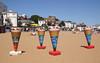 Ice cream adverts at Viking Bay Beach Broadstairs Kent