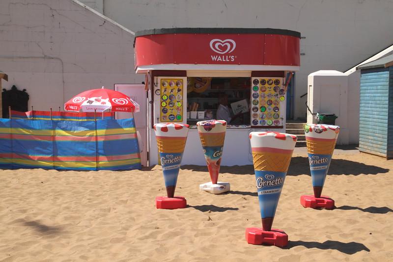 Ice cream Kiosk at Viking Bay Beach Broadstairs Kent