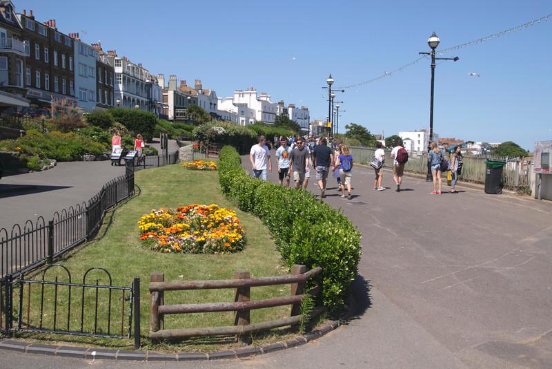 Seafront promenade near Victoria Gardens Broadstairs Kent England