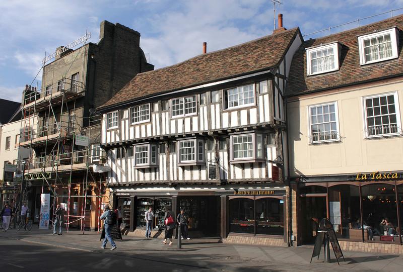 Tudor style timber framed house on Bridge Street Cambridge
