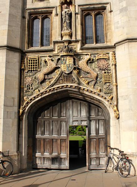 Entrance gate Christ's College Cambridge