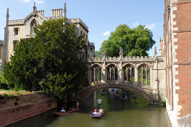 Bridge of Sighs and Punts at St John's College Cambridge