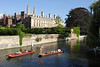 Punting on the River Cam by Clare College Cambridge
