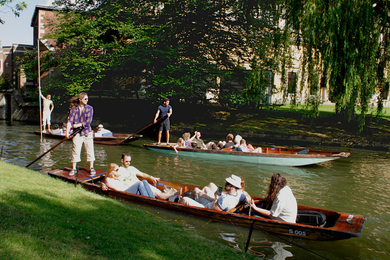 Punting on River Cam Cambridge