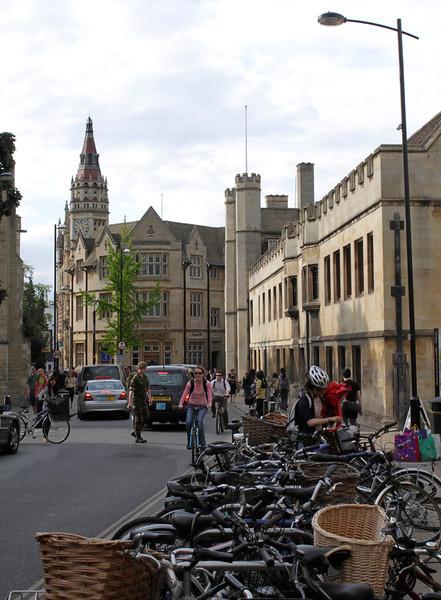 View along St Andrews Street Cambridge
