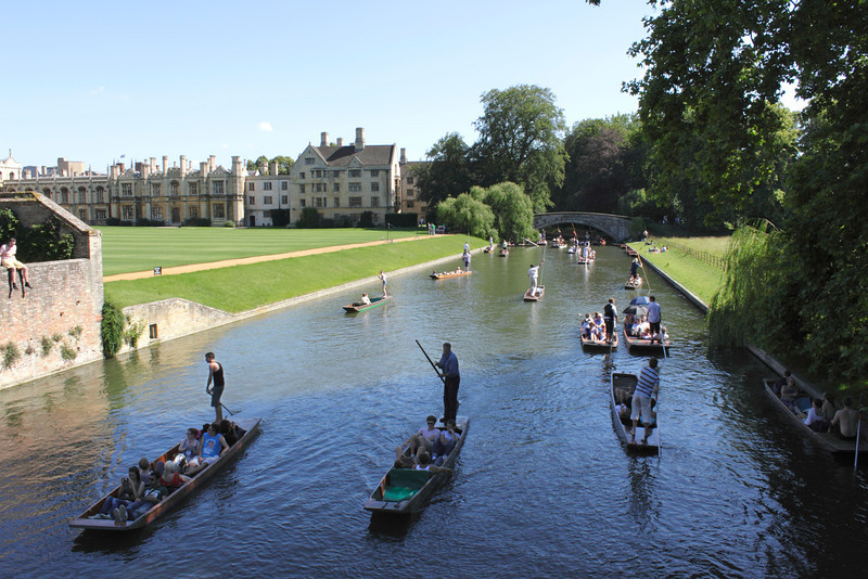 Punting on the River Cam Cambridge