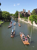 Punting, River, Cam, Cambridge, punts, UK, England, summer