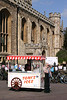 Ice Cream stall outside Great St Mary's Church Cambridge