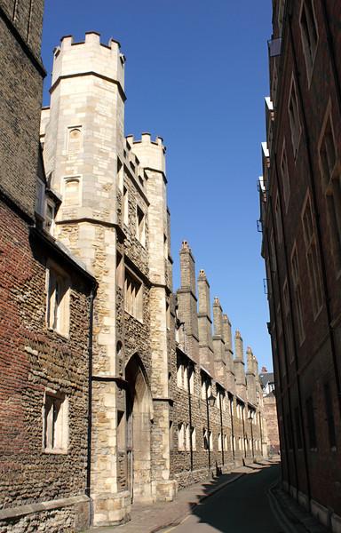Trinity Lane and Gate to Trinity College Cambridge