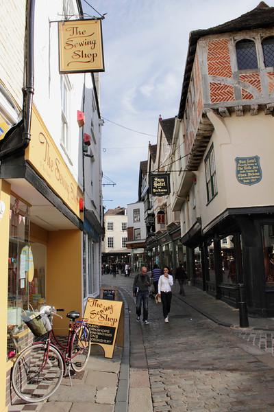 Sun Street Canterbury Kent Sun Hotel on right