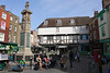 Buttermarket Square and War Memorial Canterbury Kent