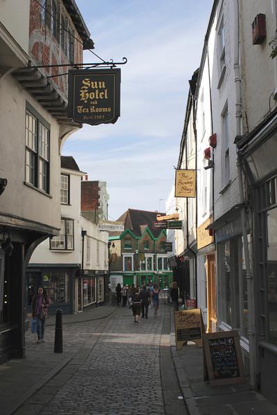 Sun Street Canterbury Kent Sun Hotel on left