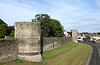 Medieval city wall Canterbury Kent