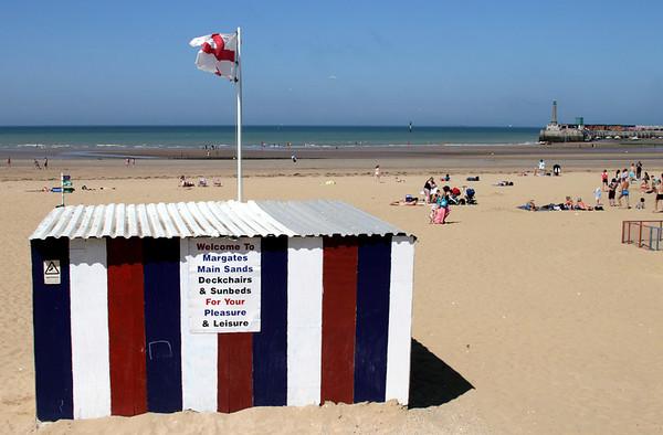 Main Sands beach at Margate Kent July 2013