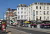 The Parade street at Margate seafront Kent