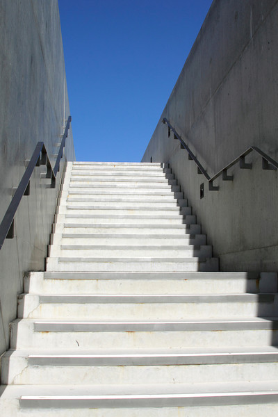 Stairs leading down to Turner contemporary art gallery Margate Kent