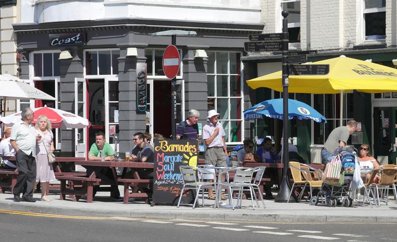 Barnacles Pub at Margate seafront Kent