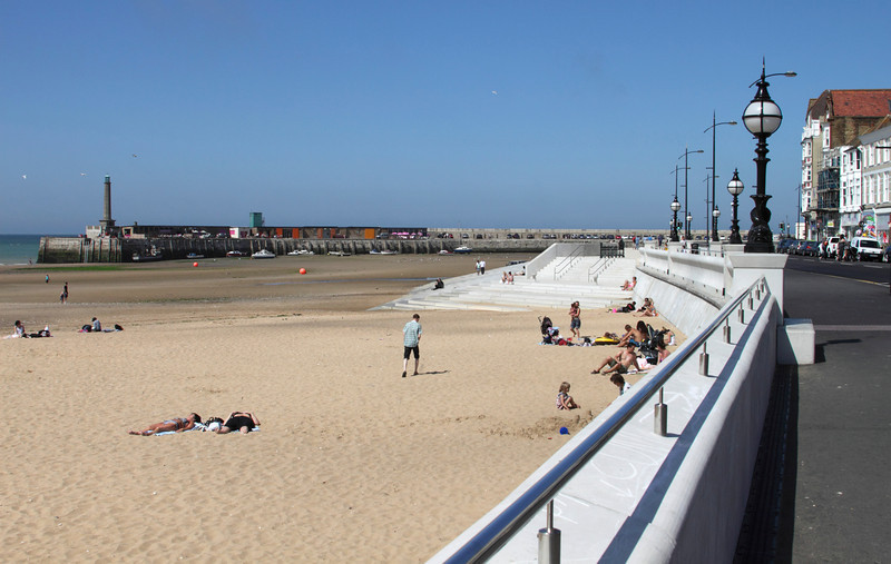 Beach and the Harbour Arm at Margate Kent