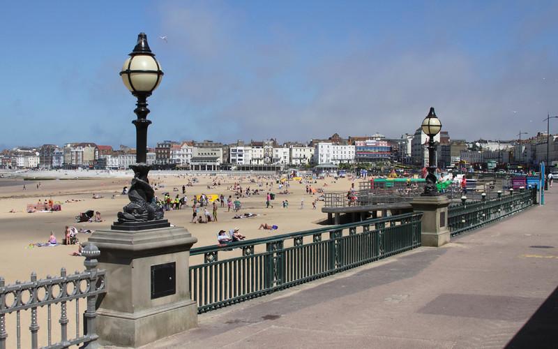 Promenade along Margate seafront Kent