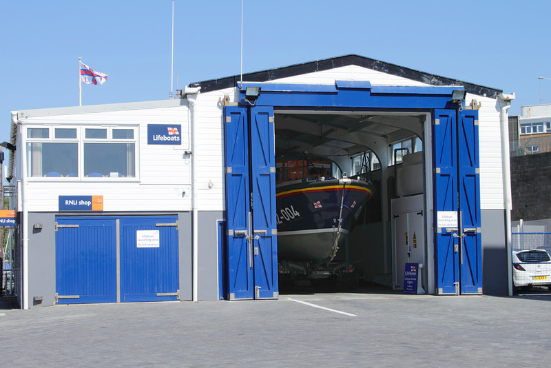 RNLI building and lifeboat at Margate Kent