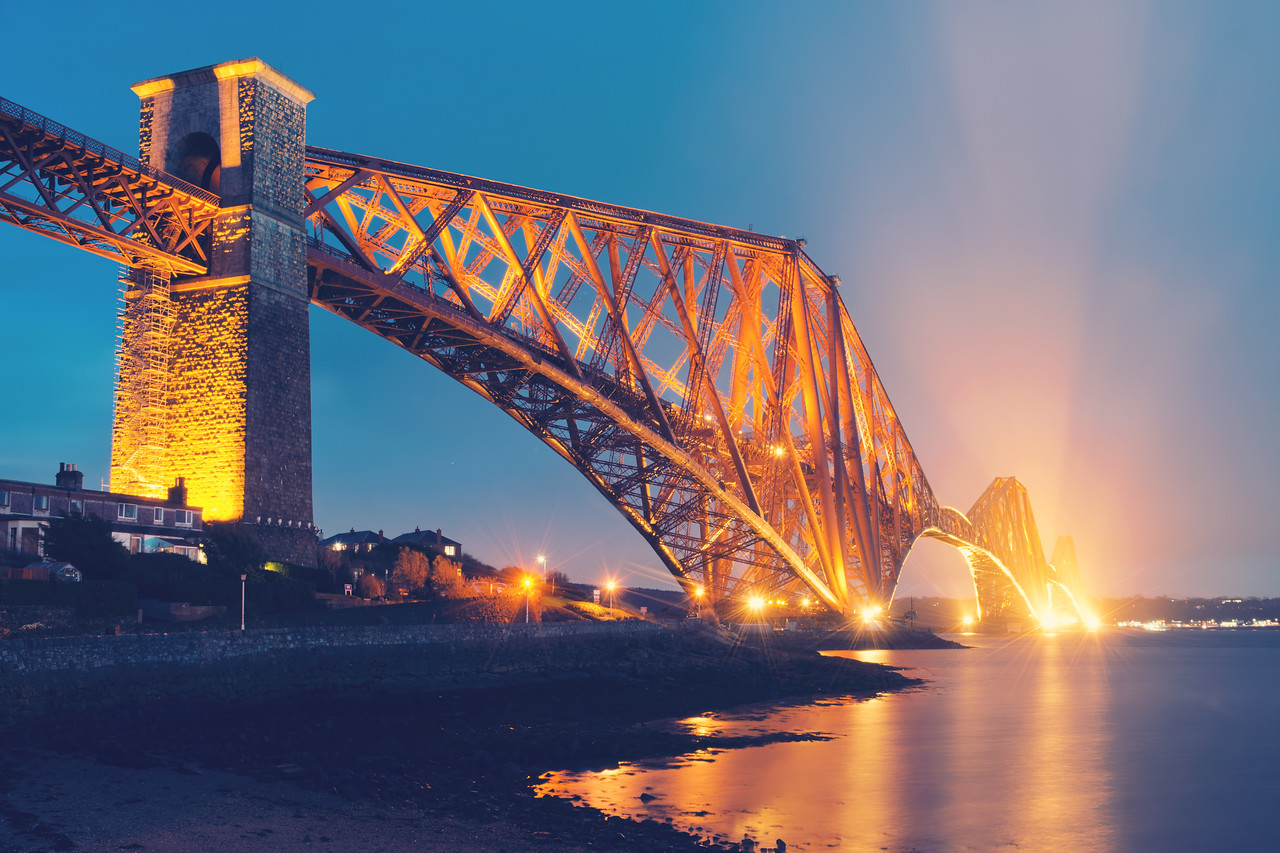 Floodlit North Queensferry