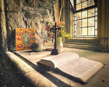 Iona Abbey Window Altar