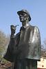 Sherlock Holmes Statue outside Baker Street tube station London