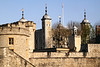 Walls of the Tower of London White Tower in background