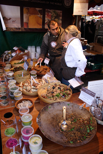 Arabic food Stall at the Borough Market London