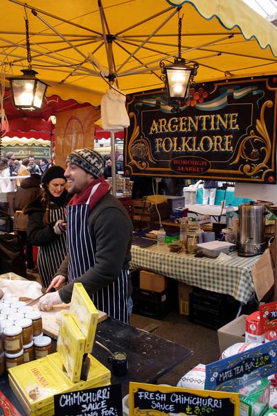 Argentine food stall Borough Market London