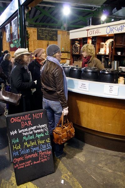 Total Organic Hot Bar at Borough Market London February 2009