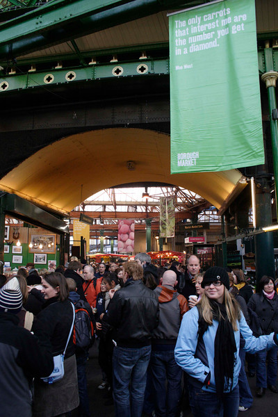 Shoppers at the Borough Market London January 2009