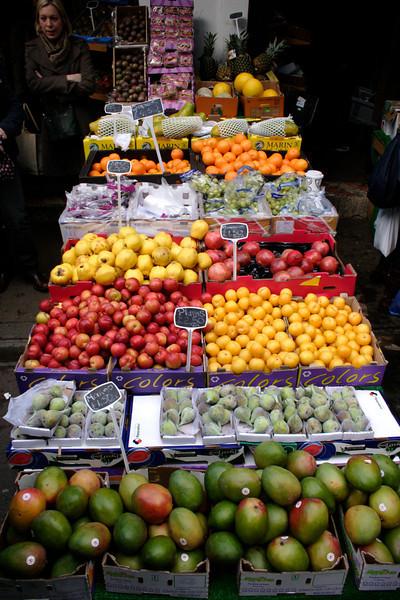 Fruit stall Borough Market London