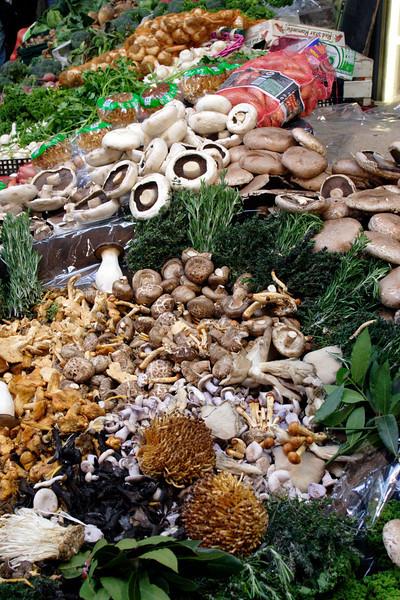 Wild Mushroom stall Borough Market London
