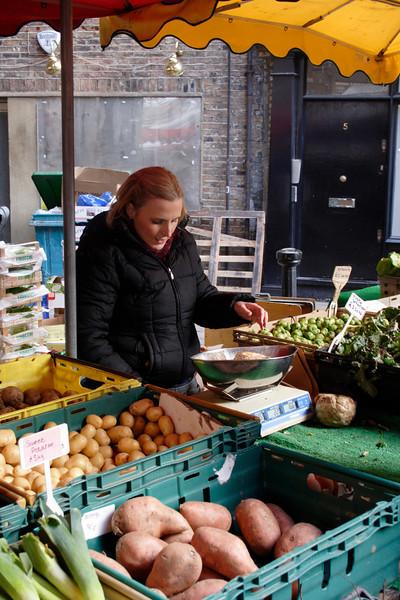 Vegetable stall Borough Market London