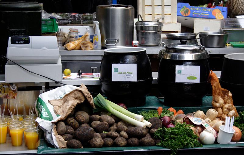 Soup stall at Borough Market London