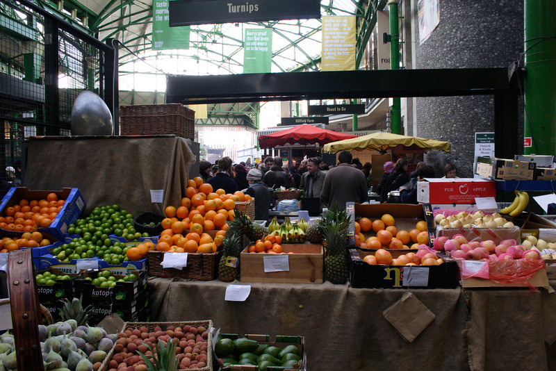 Fruit stall at the Borough Market London