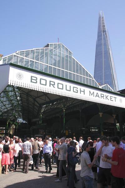 Borough Market and The Shard London