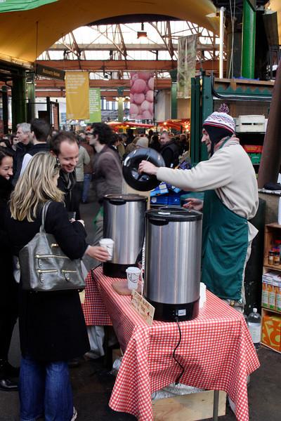Mulled wine stall Borough Market London