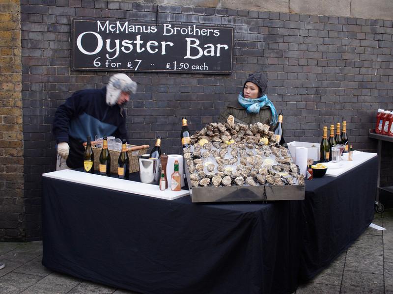 McManus Brothers Oyster Bar near the Borough Market London