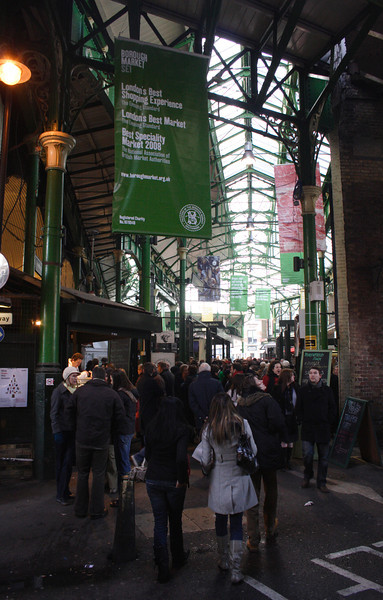 Shoppers at the Borough Market London