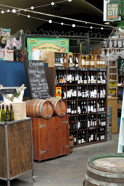 Wines for sale at the Borough Market London