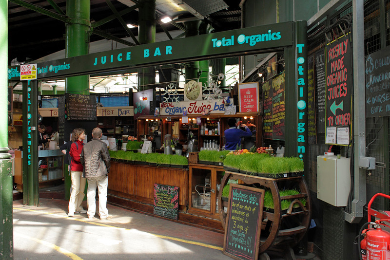 Total Organics Juice Bar at Borough Market London